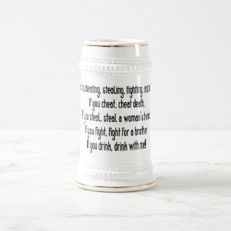 Irish Drinking Saying Stein/Mug Beer Stein