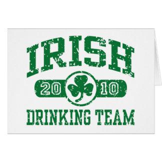 Irish Drinking Team 2010 Greeting Card