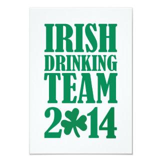 Irish drinking team 2014 9 cm x 13 cm invitation card