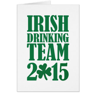 Irish drinking team 2015 card