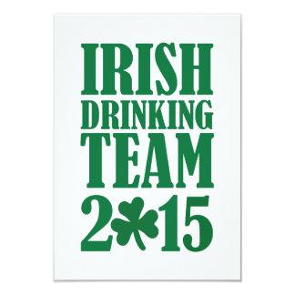 Irish drinking team 2015 9 cm x 13 cm invitation card