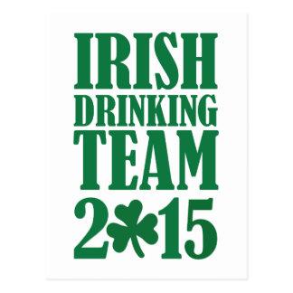 Irish drinking team 2015 postcard
