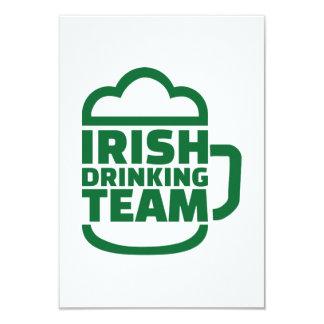 Irish drinking team 9 cm x 13 cm invitation card