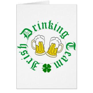 Irish Drinking Team Beer n sham Greeting Card