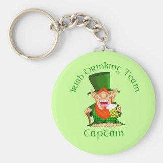 Irish Drinking Team ~ Captain Basic Round Button Key Ring