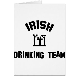 Irish Drinking Team Cards