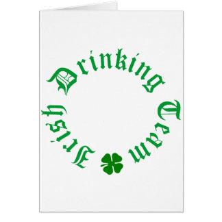 Irish Drinking Team Customize Greeting Card