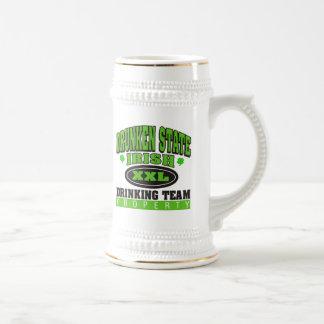 Irish Drinking Team Drunken State Beer Stein