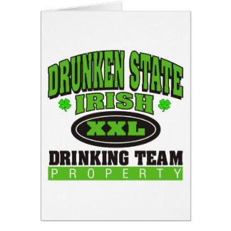 Irish Drinking Team Drunken State Card