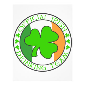 Irish Drinking Team Flyers