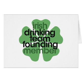 Irish Drinking Team Founding Member Clover Greeting Card