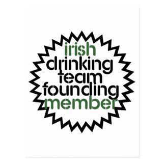 Irish Drinking Team Founding Member Postcard