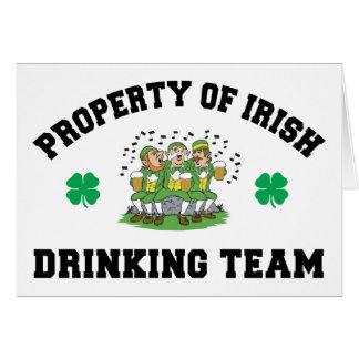 Irish Drinking Team Gift Greeting Card