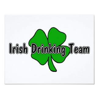 Irish Drinking Team 11 Cm X 14 Cm Invitation Card
