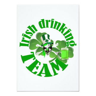 "Irish drinking team 5"" x 7"" invitation card"