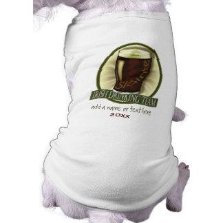 Irish Drinking Team Personalized Pet Tee Shirt
