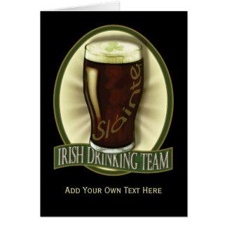 Irish Drinking Team Personalized Greeting Card
