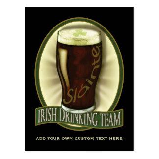 Irish Drinking Team Personalized Postcard