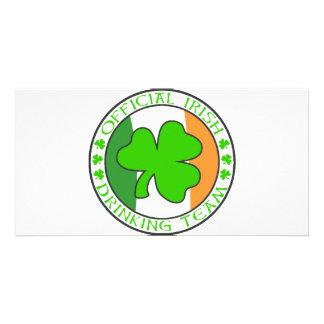 Irish Drinking Team Photo Card Template
