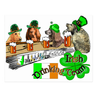 Irish Drinking Team Postcard