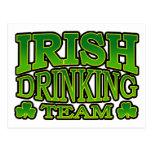 irish Drinking Team Postcard