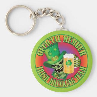 Irish Drinking Team Skull Key Chains