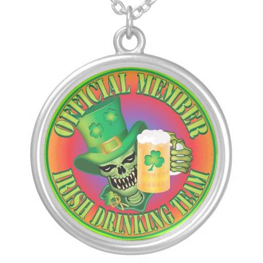 Irish Drinking Team Skull Pendant