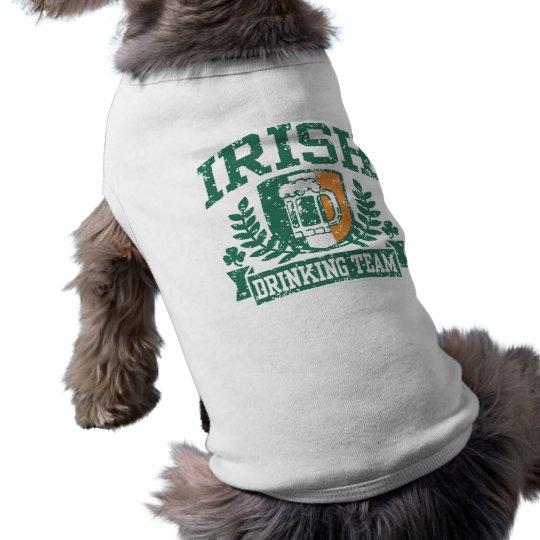 Irish Drinking Team Sleeveless Dog Shirt