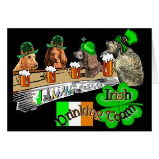 Irish Drinking Team St Patricks Day Card