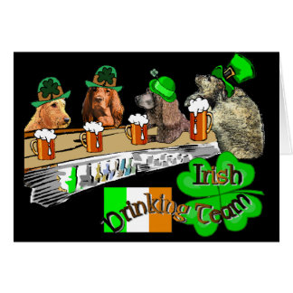 Irish Drinking Team St Patricks Day Greeting Card