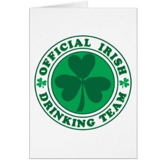 Irish Drinking Team/St. Patrick's Day Greeting Card