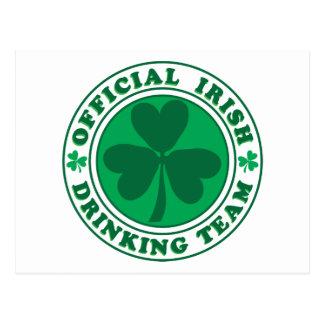 Irish Drinking Team/St. Patrick's Day Postcard