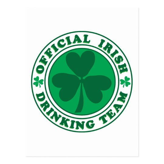 Irish Drinking Team/St. Patrick's Day Postcard