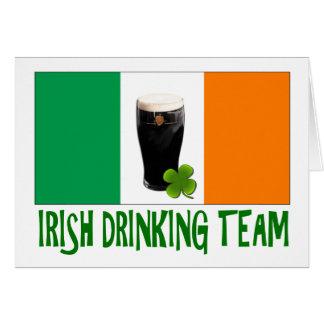 Irish Drinking Team St Patricks or St Paddys Flag. Greeting Cards