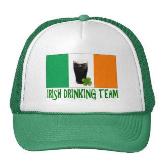 Irish Drinking Team St Patricks or St Paddys Flag Hats