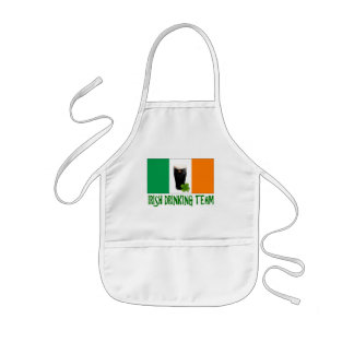 Irish Drinking Team St Patricks or St Paddys Flag. Kids Apron