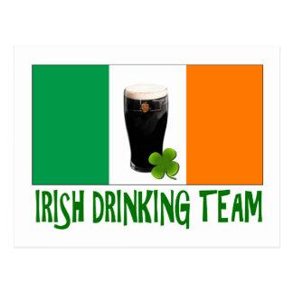 Irish Drinking Team St Patricks or St Paddys Flag. Postcard