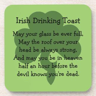 Irish drinking toast coasters