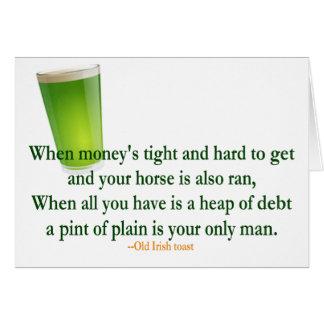 Irish Drinking Toast St Patrick s Day Card