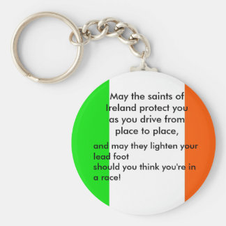 Irish Driver's Blessing Basic Round Button Key Ring