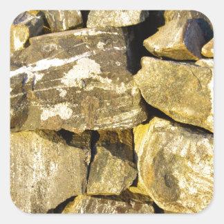 Irish Dry stone wall. Square Sticker