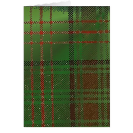 Irish Dublin Plaid Tartan Card
