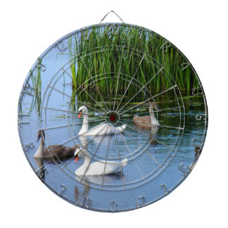 Irish ducks on the River Shannon Dartboard