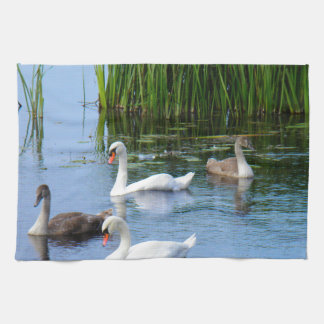 Irish ducks on the River Shannon Hand Towels