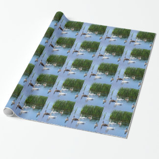 Irish ducks on the River Shannon Wrapping Paper