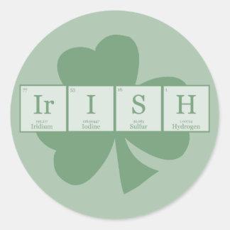 Irish [Elements] Round Sticker