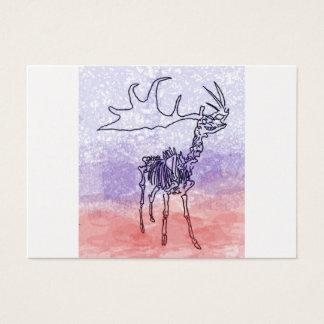 Irish elk watercolour