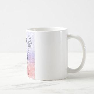 Irish elk watercolour coffee mug