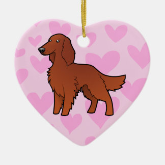 Irish / English / Gordon / R&W Setter Love Christmas Ornament