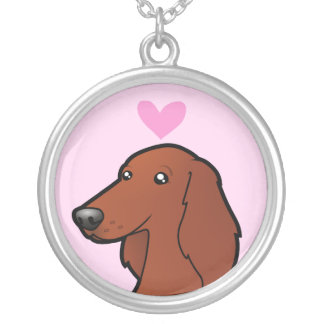 Irish / English / Gordon / R&W Setter Love Silver Plated Necklace